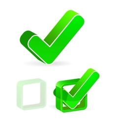 green check box with check mark vector image