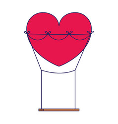 Heart swing icon colorful design vector
