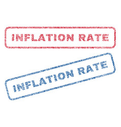 Inflation rate textile stamps vector