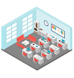 Isometric office room vector