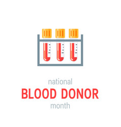 January national blood donor month concept vector