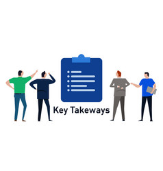 Key takeways important notes list point vector