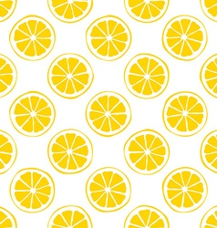 Lemon seamless pattern white background vector