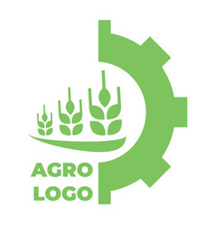 Logo template for agro company green isolated icon vector