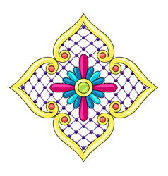 Mexican star with ornamental flower vector