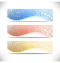 Modern web banner templates collection vector image