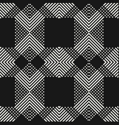 Monochrome seamless pattern with cross diagonal vector