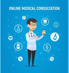 Online medicine doctor vector
