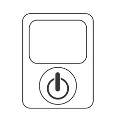 power device button icon vector image