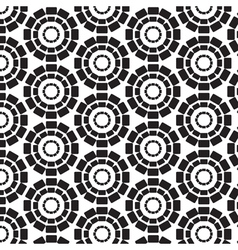 Rectangles connected in circles seamless pattern vector