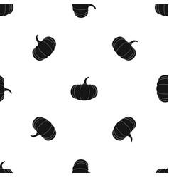 ripe pumpkin pattern seamless black vector image