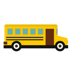 school bus icon isolated vector image