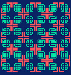 seamless medical abstract pattern with crosses and vector image