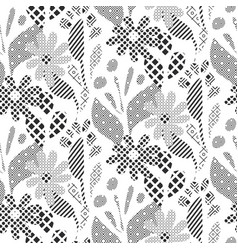 seamless pattern with black and white abstract vector image