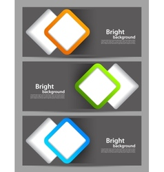 Set of banners with cut out squares vector image