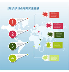 Set of colorful map markers map pointer vector