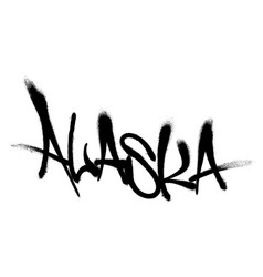 Sprayed wyoming font graffiti with overspray in vector