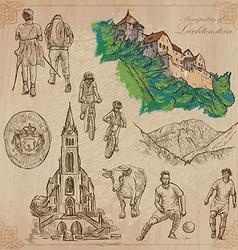 Travel LIECHTENSTEIN - An hand drawn pack vector