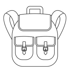 trip backpack icon outline style vector image