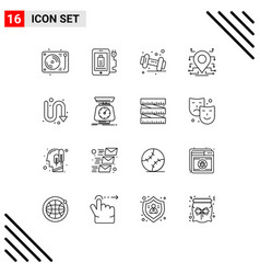 Universal icon symbols group 16 modern vector