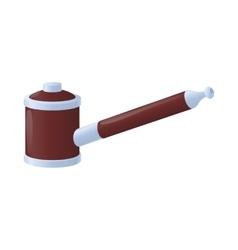 Vape pipe icon in cartoon style vector