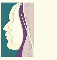 Vetor colorful woman and man paper profiles vector