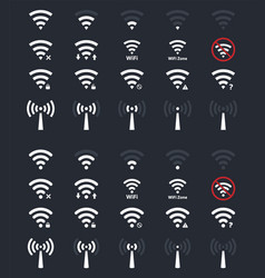 wifi signs and icons wireless signal vector image