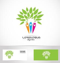 Faimily tree logo vector image vector image