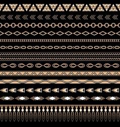 Flash tattoo Ethnic seamless tribal Ornaments vector image vector image