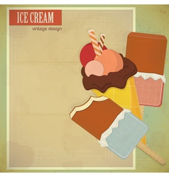 ice vintage menu vector image