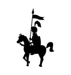 knight on horseback vector image