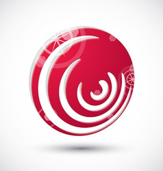 Abstract icon 3d symbol vector image