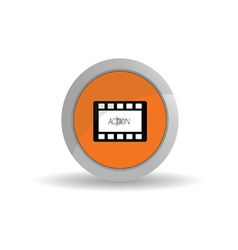 film tape action color vector image vector image