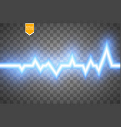heart pulse graphic isolated on transparent vector image