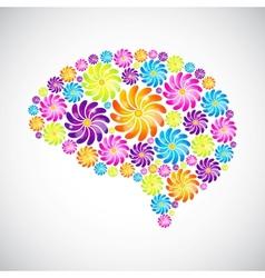 Mind profile vector image