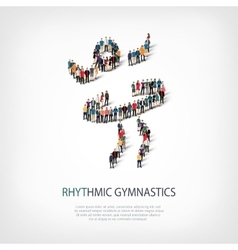 people sports rhythmic gymnastics vector image
