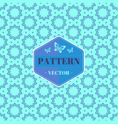 seamless pattern with stars background vector image