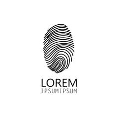 sign fingerprint vector image