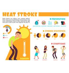 temperature heat different methods of sun stroke vector image