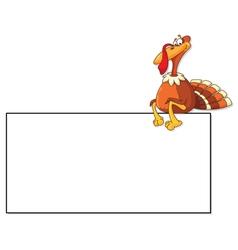 Turkey and blank vector