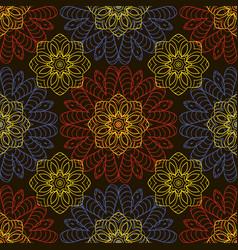 Doodle seamless image mandala circular patterns vector