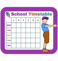 school timetable vector image