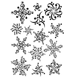 Snowflake notes music christmas notes vector
