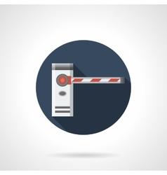Borderline barrier round flat icon vector image vector image