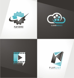 Movie logo designs vector image vector image