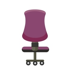 Purple Office Chair Icon vector image vector image
