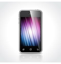 shiny touchscreen mobile vector image vector image
