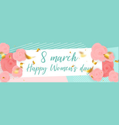 8 march rose happy womans day vector image