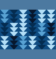 african arrows rows classic blue vector image
