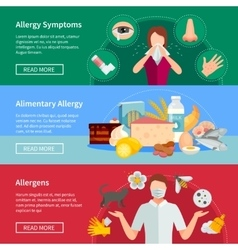Allergy Banners Set vector image